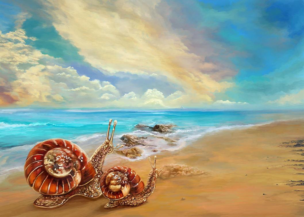Snails Travelers by Vilenchik
