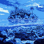 Five-color sea landscape