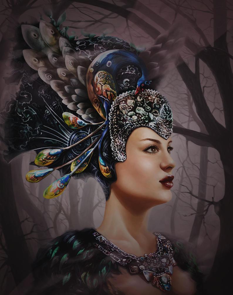 Female fantasy portrait by Vilenchik