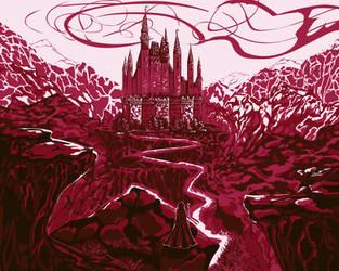 Mountain castle by Vilenchik