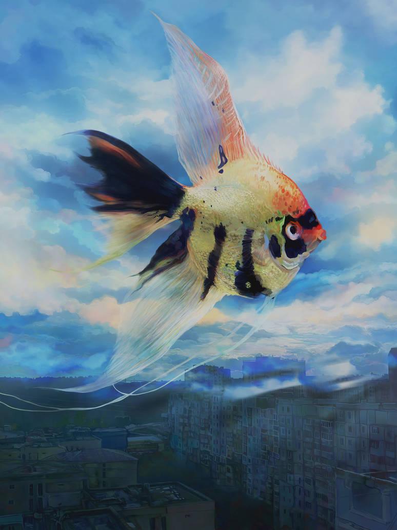 Peace Guardian Angelfish by Vilenchik
