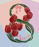 March 8 card by Vilenchik