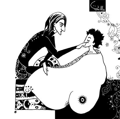 Snape and eyelash by Tamillla