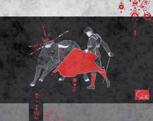 Corrida bull fight 2 by Tamillla