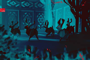 deer-origami-cannibals by Tamillla