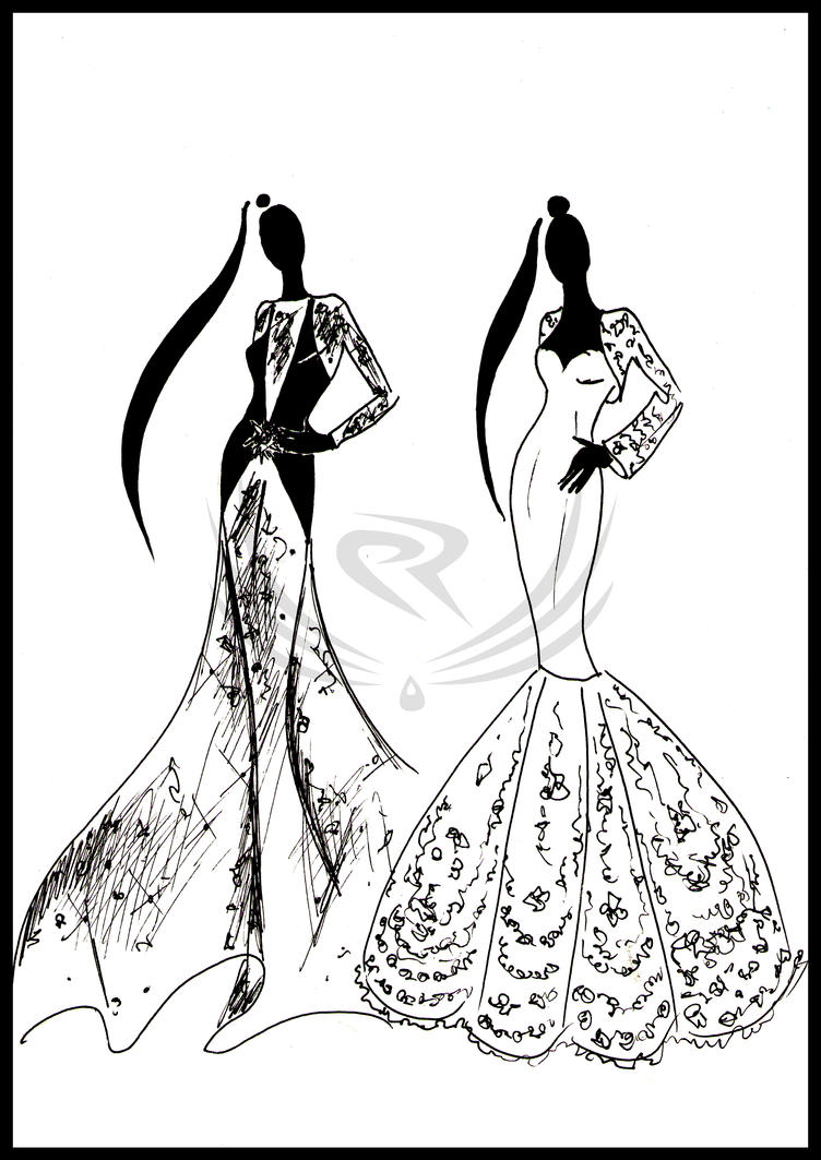 Fashion Design - evening gown by ELRO66 on DeviantArt