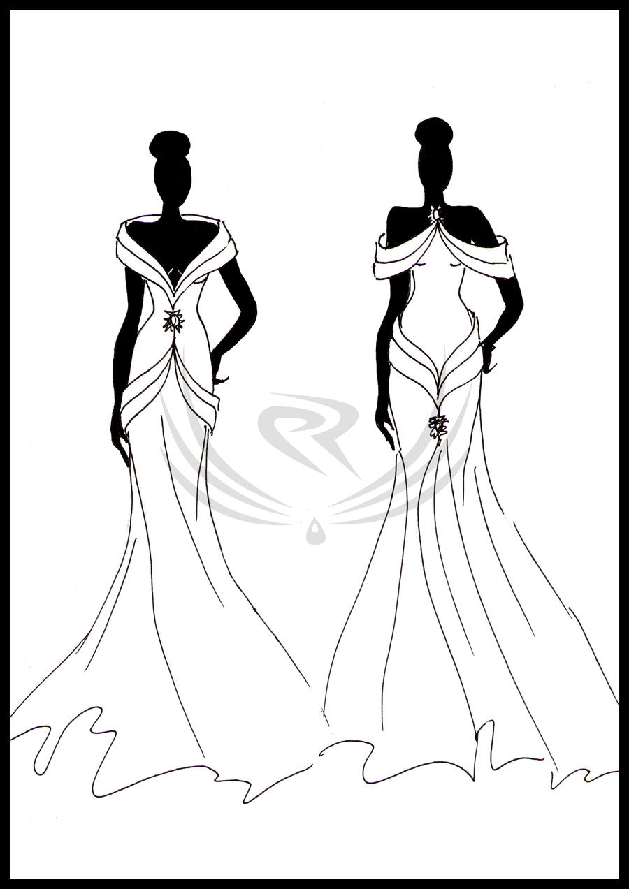 Fashion Design -evening gown by ELRO66 on DeviantArt