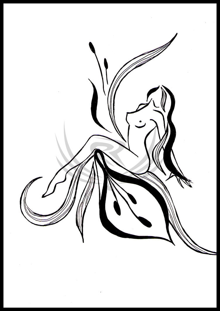 Abstract Line Drawing Flowers : Abstract women as flowers by elro on deviantart