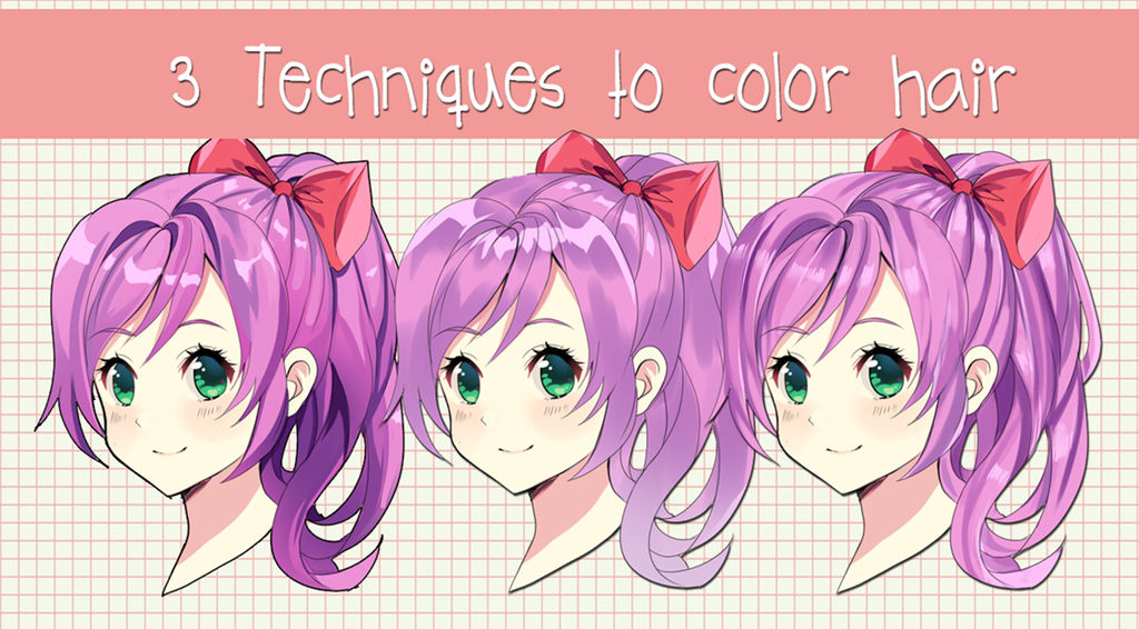 How To Shade Anime Hair