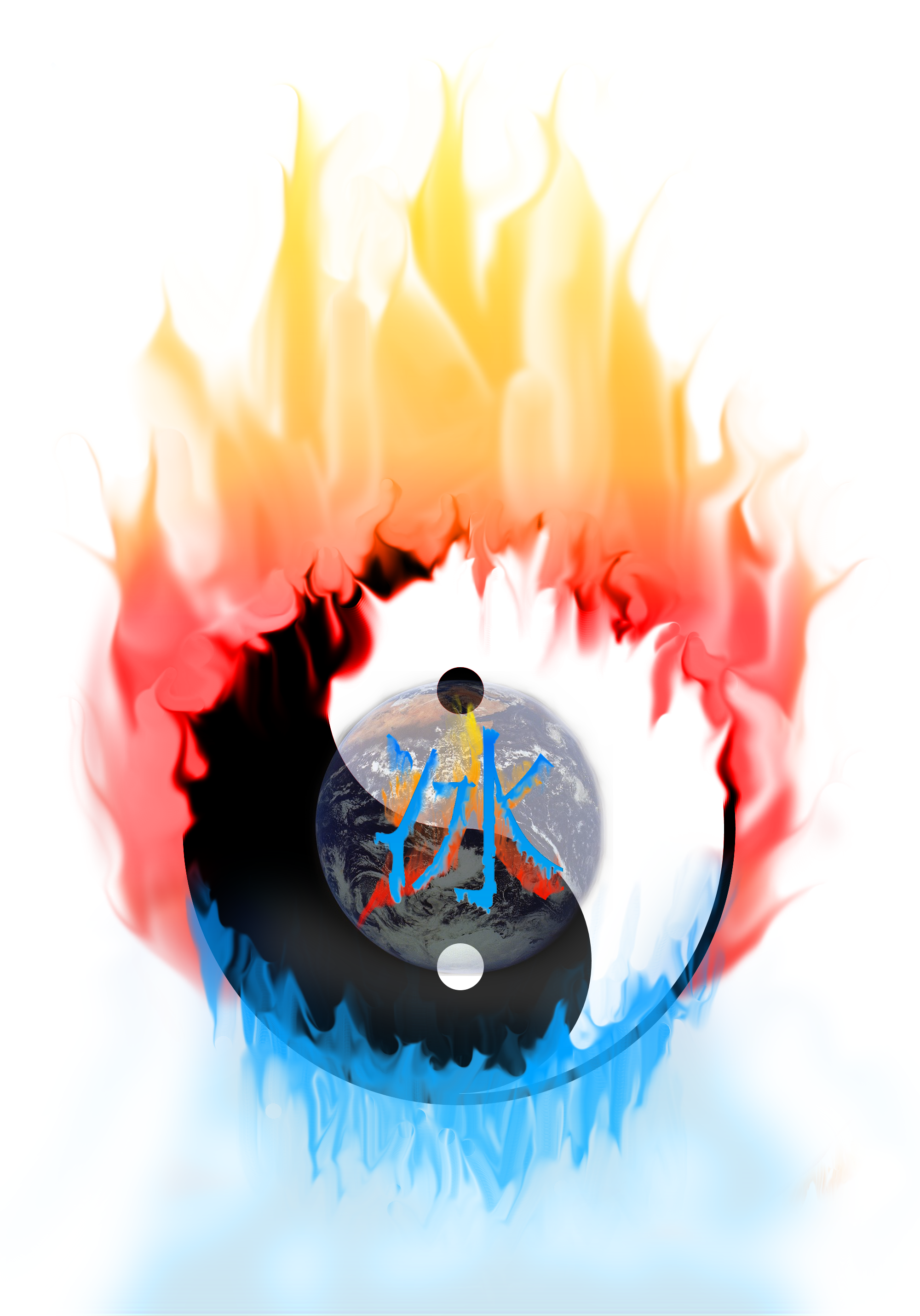 Yinyang fire and ice by scobbo on deviantart for Fire and ice tattoo shop