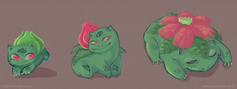 Bulba Family by ZombieMonsters