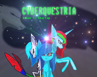 CYBERQUESTRIA issue 1 cover by windowsOS-tan-artist