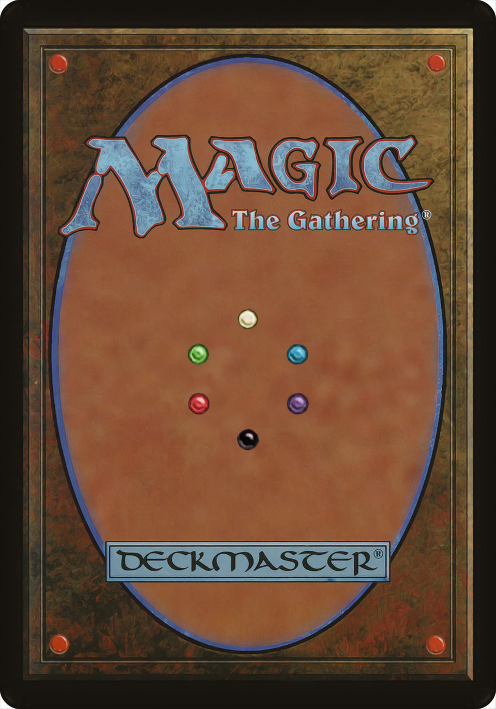 UNOFFICIAL Magic the Gathering Six-Color Card Back