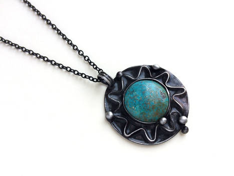 Blue Sun with turquoise