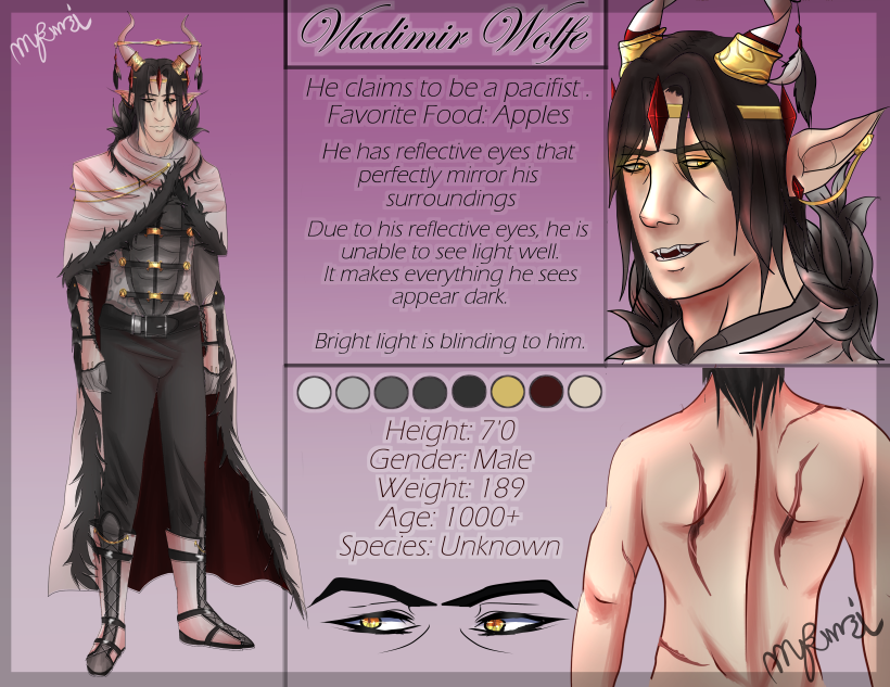 Vladimir Van Wolfe (Reference Sheet) by RavenIntrepidity