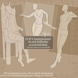 YCH Commissions set 2 by RavenIntrepidity