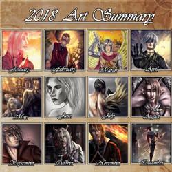 Art summary 2018 by RavenIntrepidity