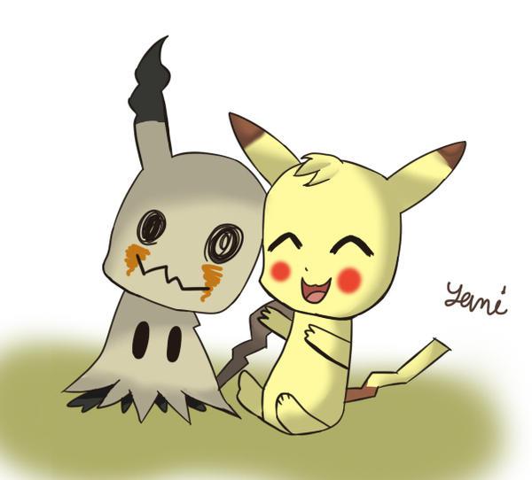 Mimikyu And Pikachu By Jasisahamster On Deviantart
