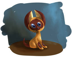 Kitten by the name of Woof by PonyGoggles