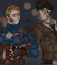 Captain America x Richtofen - I assure you.. by O-F-T-E-N