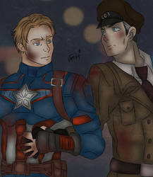 Captain America x Richtofen - I assure you.. by O-F-T-E-N