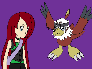 Mochi and Hawkmon by VeronicaPrower