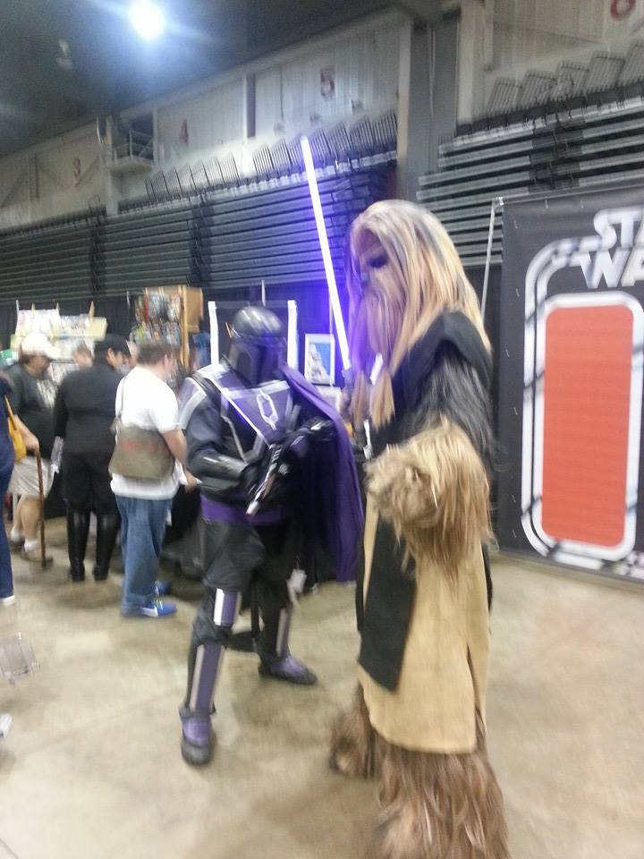 Wookie n Mandolorian by VeronicaPrower