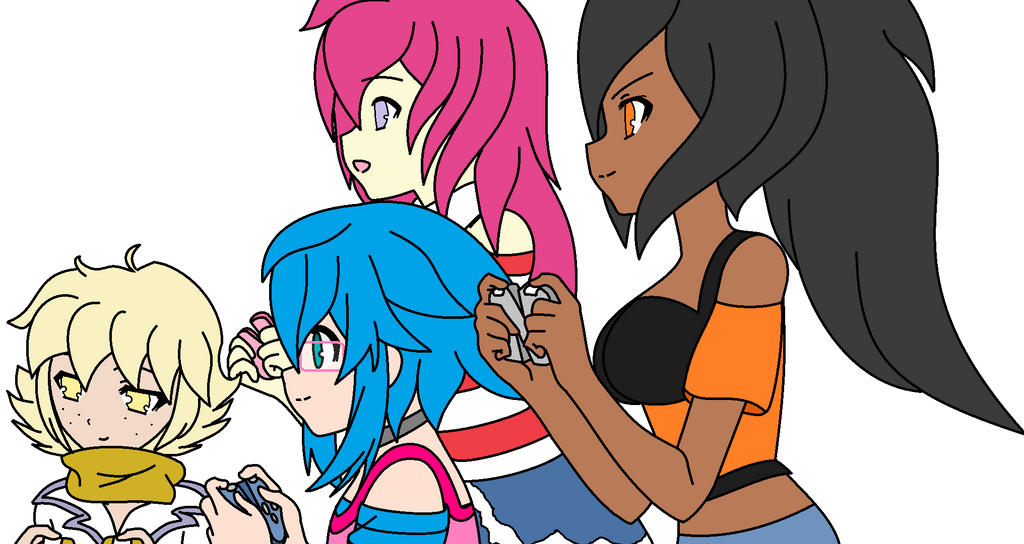 Gamer Girls by VeronicaPrower