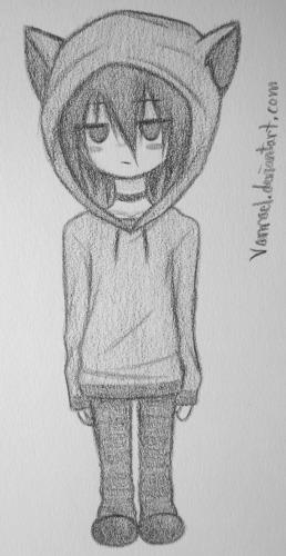 Cat hoodie xD by Vanrael