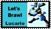 Lucario Brawl Stamp by r0ckmom