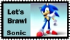 Sonic Brawl Stamp by r0ckmom