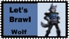 Wolf Brawl Stamp by r0ckmom