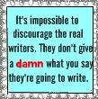 Writers Quote stamp