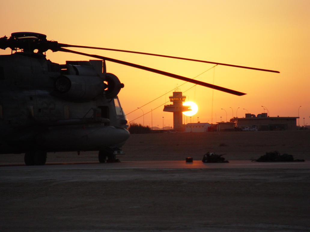 Sunset on the flightline by chris-stahl