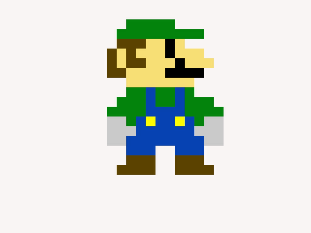 8Bit Luigi Minecraft Skin