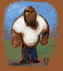 Homem das carvernas moderno by traceman