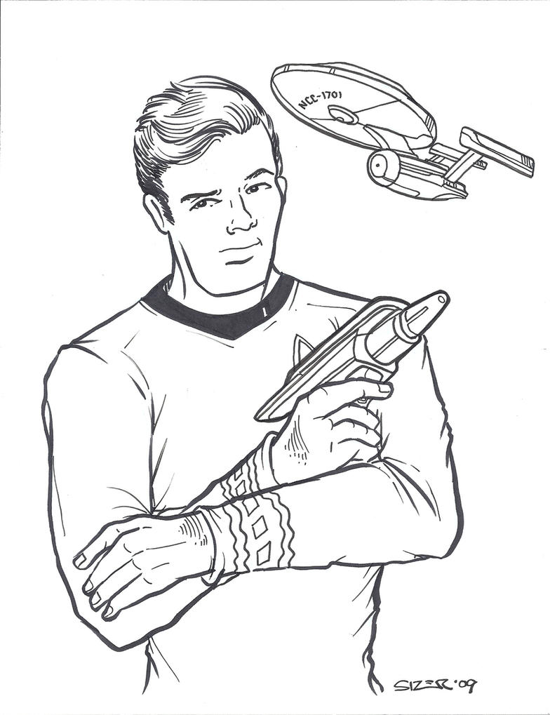 TOSART: Star Trek Cast Cartoon by moiramurphy on DeviantArt |Drawing Cute Cartoon Star Trek Kirk