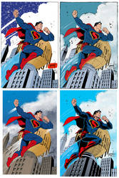 One Grummett Superman, Four Inkers, One Colorist