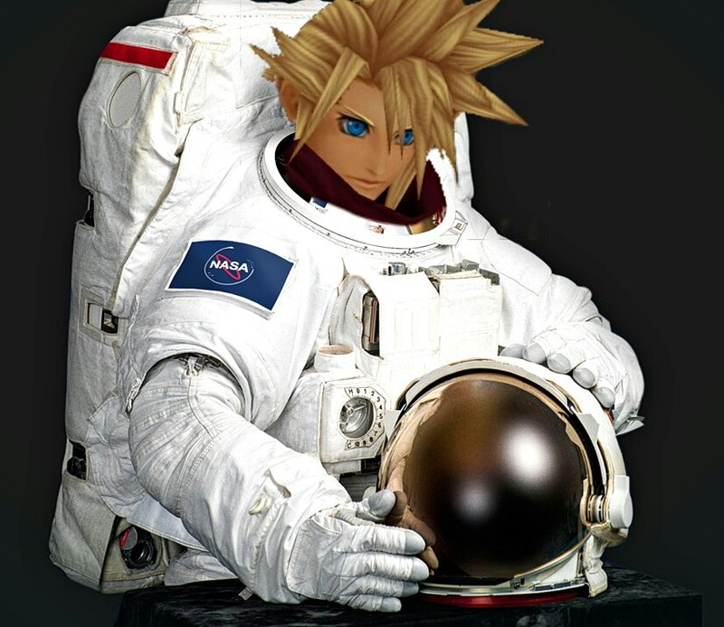 Cloud Strife the spacesuited pressurized astronaut by smash222