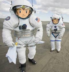 Astronauts Takuya and Davis