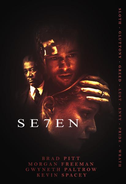 seven movie poster 1995 by hrzcreatives on deviantart. Black Bedroom Furniture Sets. Home Design Ideas