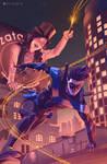 Nightwing and Zatanna