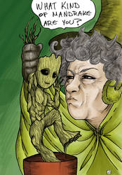 Professor Sprout and Groot (color).