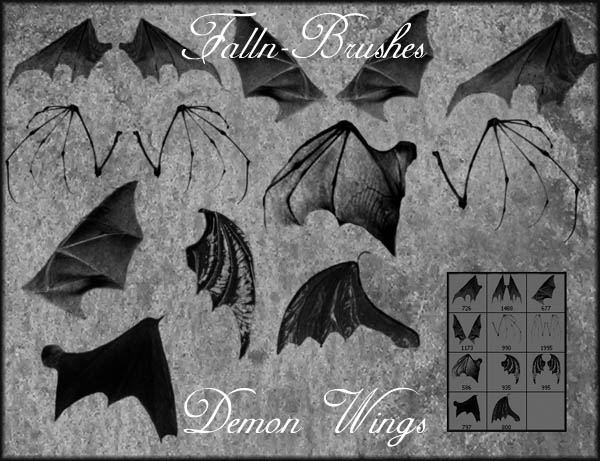 Bat Demon Wings Brushes