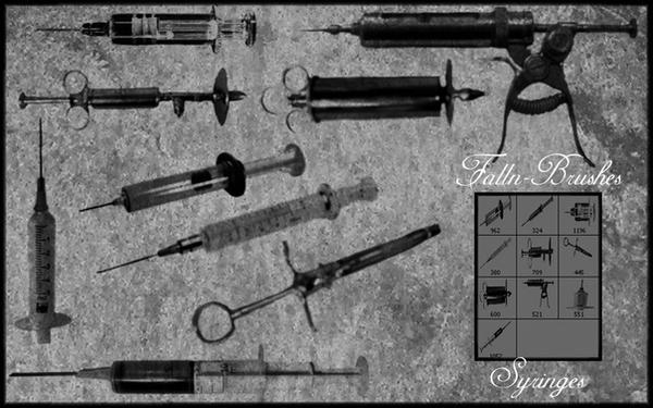 Syringe Brushes by Falln-Brushes