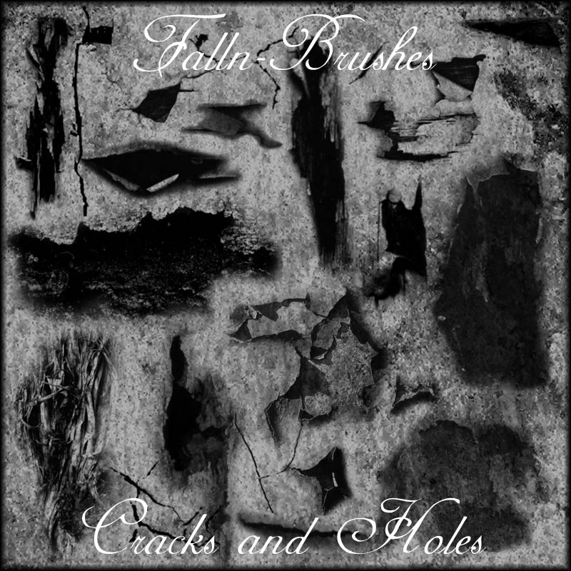 Cracks and Holes Brushes by Falln-Brushes