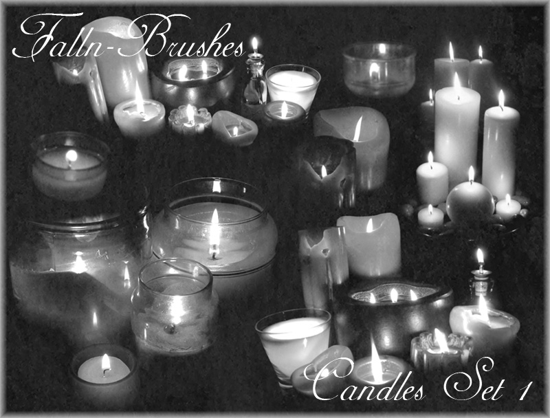 Candles Brushes Set 1 by Falln-Brushes