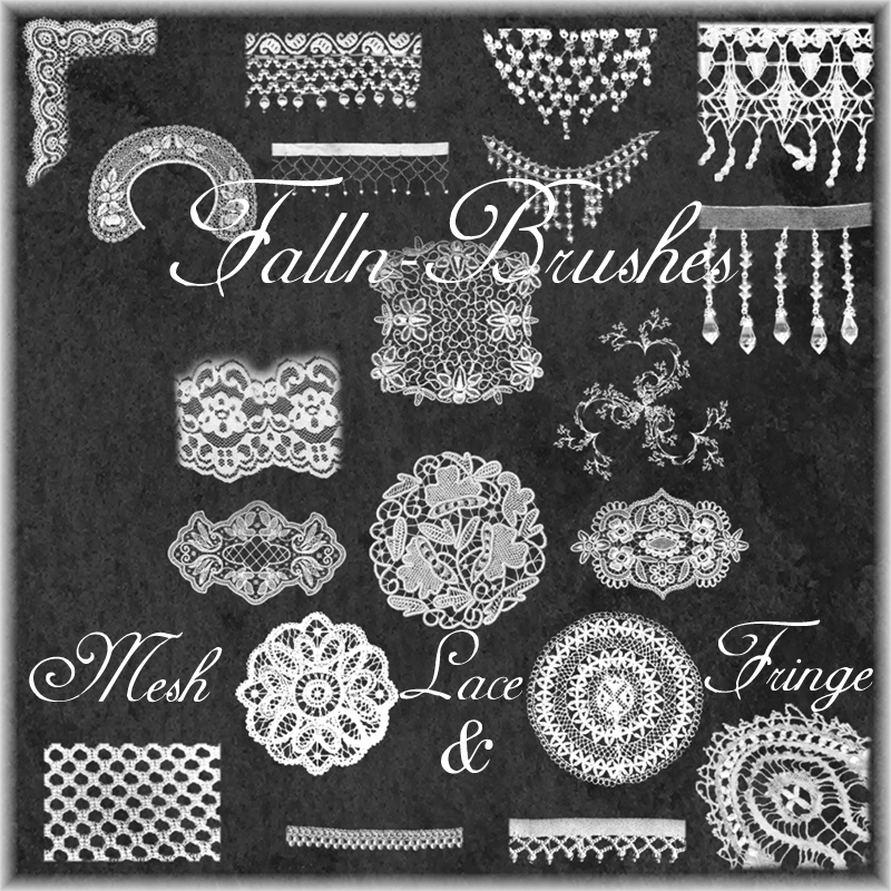 Mesh Lace and Fringe Brushes by Falln-Brushes