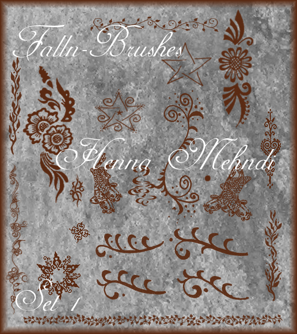 Henna Mehndi Brushes Set 1 by Falln-Brushes