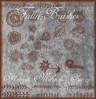 Henna Mehndi Brushes Set 2 by Falln-Brushes